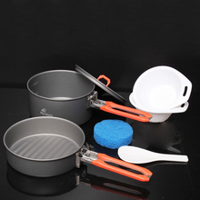 Fire Maple 1-2 Person Camping Cooking Set Pannikin & Frying Pan Hiking Camp Cook Set Utensils For Tourism Feast 1 Free Shipping