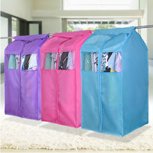 Oxford Cloth Hanging Garment Suit Coat Dust Cover Protector Wardrobe Storage Bag(China)