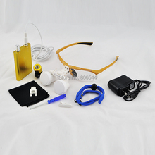 Golden ! Hot! 2.5x 320mm Dental Surgical Binocular Loupes + LED Head Light lamp 188042-5A(China)