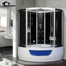Free shipping 1350mm Whirlpool Steam Shower massage Bath Corner Cabin Cubicle Enclosure Room walking-in sauna rooms ZM48(China)