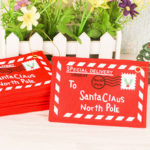 Best Sale Red Christmas Envelope Christmas Greeting Cards Candy Bag Perfect Christmas Gifts For Friends Christmas Supplies 5Pcs(China)