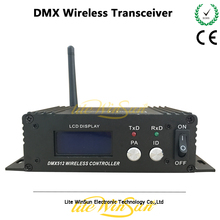 Litewinsune 1pc Wireless DMX512 Transceiver Box LCD Display 126 Channels Jumping Frequency 2.4G ISM Box(China)