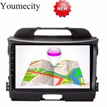 Youmecity 32G ROM 9 Inch!Sportage r/Sportage 3 2 din Android 7.1 Car DVD player Gps wifi for KIA 2010 2014 2011 2012 2013 2015(China)