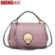 ZOOLER Summer Seaon Genuine Leather Women Bags Woman Handbag Long Strap Shoulder Bag Real Cowhide Leather Female Boston Tote Bag