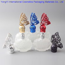 100Pcs 30ML Butterfly Vintage Refillable Glass Crysta Spray Bottle Empty Atomizer Aftershave Makeup Perfume Cosmetic Bottle(China)