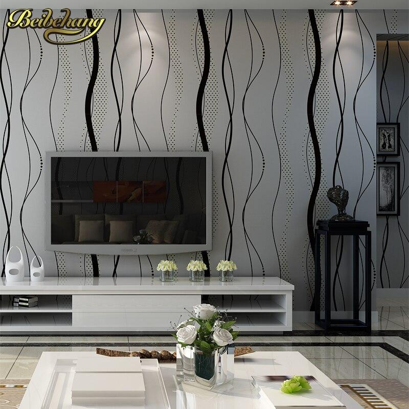 beibehang wallpaper stripe wall paper classic background wall wallpaper striped non-woven wallcovering papel de parede listrado<br>