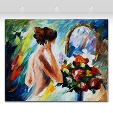 Sexy Nude Painting Naked Woman Modern Body Art Palette Knife Oil Picture Canvas Print for Bedroom Hotel Wall Decoration