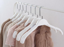 10 Pack, Luxury Thick Pure White Plastic Clothes hanger for Garment Coats and Fur, with Wide Shoulder(China)
