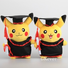 "NEW  Pikachu with Graduate Clothes Cosplay Stuffed Dolls Cute Rilakkuma Graduate Gift Plush Toys 11"" 27CM"
