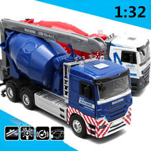 Large heavy truck,1:32 scale alloy Heavy goods vehicles, Cement truck, mixer,Big cars,Engineering vehicles,wholesale(China)