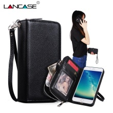 Buy LANCASE Leather Cover iPhone 8 Case Leather PU Flip Detachable Wallet Case iPhone 8 Plus Cover Phone Cases iPhone 8 for $11.99 in AliExpress store