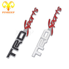 3D Metal TRD Sports Logo Car Sticker Emblem Decal Badge For Toyota Corolla Avensis Yaris Rav4 Camry Hilux Auris Prius Styling
