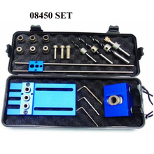 Drilling Guide Kit Woodworking Tool DIY Joinery High Precision Dowel Jigs Kit Drilling locator 08450