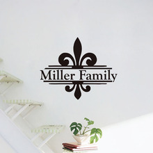 Family Wall Sticker Personalised House Name Vinyl Decal Ourdoor Address Decoration Murals Home Decor(China)