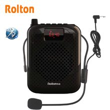 Rolton K500 Bluetooth Loudspeaker Microphone Voice Amplifier Booster Megaphone Speaker For Teaching Tour Guide Sales Promotion