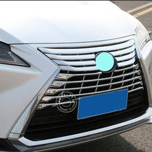 WK Brand 2pcs/set ABS Chrome Grille Protector Guard Lid Molding Cover for LEXUS RX 2016 Car Accessories Styling