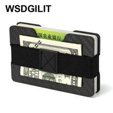 Carbon Fiber RFID Blocking Money Band Credit Card Holder Slim Wallets Business Card Holders Durable 3K Carbon Case Purse For Men(China)