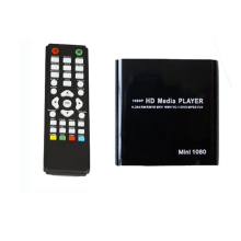 1080P Mini HDD Media Player MKV/H.264/RMVB HD with HOST USB/SD Card Reader(China)