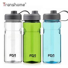 Transhome Outdoor Water Bottle 1000ml Food Grade Plastic Sport Water Bottles For Running Travel Cycling Sports Large Capacity(China)