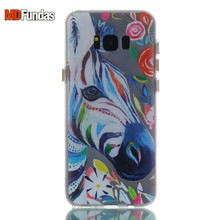 MDFUNDAS Case For Samsung Galaxy S8+ /S8 Plus G9550 Case Buttons Night Light Cover Colorful Print Case Soft Silicone TPU Shell