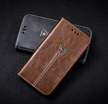 PU Leather Case Skin For Huawei Ascend Y320 Cover Flip Phone Bag with Card holder 4 colors(China)
