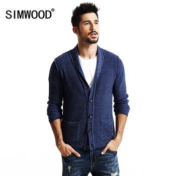 SIMWOOD 2016 nouveau automne hiver cardigan hommes mode casual chandail tricots haute qualité MY2043