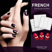 Candy Lover 12pack/lot Nail art Sticker Tips Guide French Manicure  Nail Decals Form Fringe Guides DIY Styling Beauty Tools