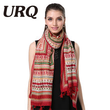 bohemina geometry tassel red scarfs winter print shawl tassel scarf women from india shawl scarves pashmina cotton voile scarf