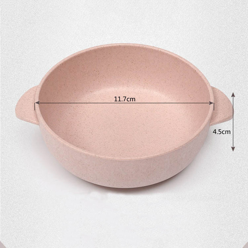 Wheat-Straw-Children-Dinnerware-Kids-Feeding-Bowls-With-Spoon-Baby-Dishes-Solid-Color-Food-Container-Toddler-Tableware-T0590 (4)