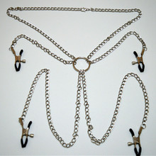 Buy Metal Chains Collar Restraints Slave Breast Nipples Clamps Labia Clips Adult Games Couples Fetish Sex Toys Women
