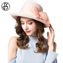 FS Summer Floppy Straw Hat Women Organza Bowknot Black Beige Pink Gray Wide Brim Beach Visor Hats Casual Foldable Travel Cap(China)