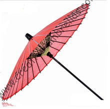 Wooden&bamboo dancing umbrella craft props antique old classic advertising gift wedding oil paper outdoor sunshade red parasol(China)