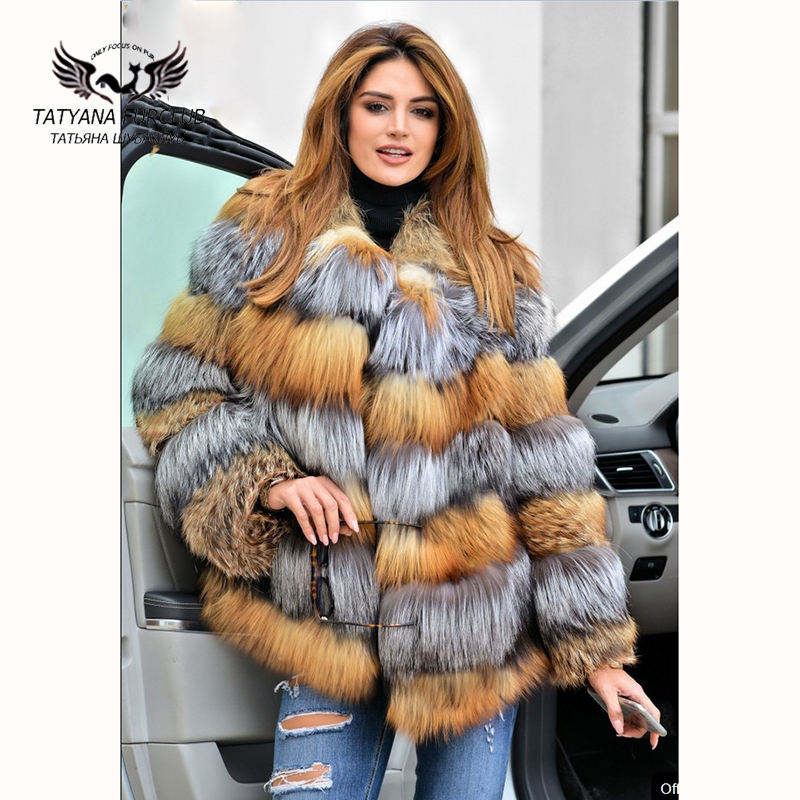 YZ-2017-Natural-Real-Red-Silver-Fox-Fur-Coat-For-Women-s-Warm-Warm-Thick-Ladies
