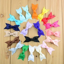 "20pcs DIY grosgrain ribbon 2.8"" solid hair bows without clip,for headbands,sewing, garment accessories,decoration embellishments"