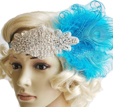 Ladies' vintaged flapper feather headband #HW17004
