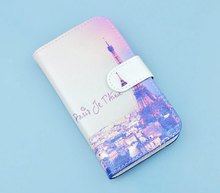 J&R Lovely Design Cell Phone Bags Flip PU Leather Skin Cover Protection Case For Huawei Ascend G6   SJ1821