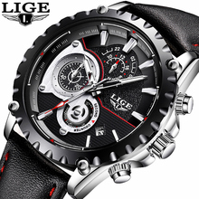 Buy LIGE Watch Men Fashion Quartz Clock Mens Watches Top Brand Luxury Casual Leather Waterproof Sport Wrist Watch Relogio Masculino for $23.99 in AliExpress store