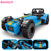 [Bainily]771pcs Policeman Race Truck Transformable Model Technic DIY Building Block Sets Gift Toys For Children