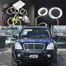 HochiTech ccfl angel eyes kit white 6000k ccfl halo rings headlight for Ssangyong Rexton 2006 2007 2008 2009 2010 2011