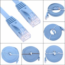 blue 1000M high speed RJ45 CAT6 Ethernet Network Flat LAN Cable UTP Patch Router Cables 0.5m 1m 2m 3m 5m 8m 10m 15m (Optional)