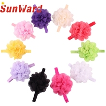 Stylish 2017 Baby Children Soft Mesh Lace Chiffon Floral Girls Headband Hairband kid  Hair Accessories