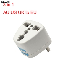 Universal AU US UK to EU AC Power Plug Travel Adapter Outlet Converter Socket Drop shipping(China)