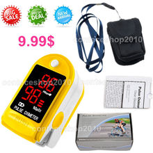 CMS50DL FingerTip Pulse Oximeter LED Blood Oxygen SPO2 Pulse Heart rate monitor ONLY Yellow Color