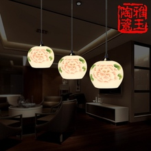 LED E27 Modern Handpainted Ceramic Dining 3 Light Fixtures For Bar 110V220V Design Drop Lamp Christmas Retro Chandelier Lighting