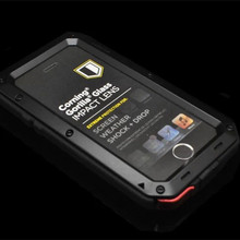RJ waterproof case For iPhone5 5S shockproof fundas For apple iPhone 5 5S 5G Aluminum dropproof cover coque(China)