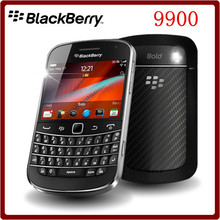 9900 Original Unlocked Blackberry 9900 WCDMA 3G QWERTY Keyboard 8GB ROM 5MP Bluetooth WIFI Refurbished Smartphone Free Shipping