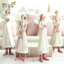 Miz Home Anna Series Children's Room Decoration Christmas Gift Ornament Small Cute Doll Resin Craft Fairy/Angel Figurines
