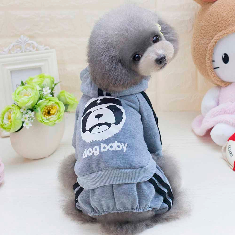 Dogbaby Dog Clothes 6 Color XS-XXL Fashion Pet Dog Clothing Autumn Winter Puppy Hoodies Small Dogs Chihuahua Teddy Jacket Coat