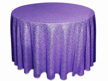 Customized order- dark Purple 120inch Round Sequin Tablecloth,300cm diameter tablecloth overlay falling to the floor(China)