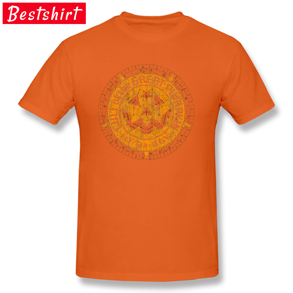 Casual Normal Short Sleeve Tops T Shirt Summer/Autumn Crew Neck 100% Cotton Boy T-Shirt Normal Tee-Shirts 2018 Cult of the Great Pumpkin Alchemy Logo 15715 orange